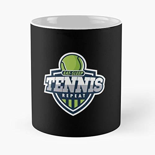 Tennis Ball Racket Racquet Gift Coffee/tea Ceramic Mug 11 Oz