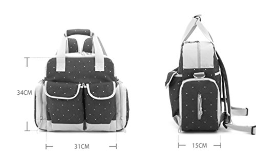 Bolso Mommy de la manera de la manga grande de los bolsos de Mama Bag Diagonal Bolso Mommy portable multiusos de la mam3a ( Color : Negro ) Rojo