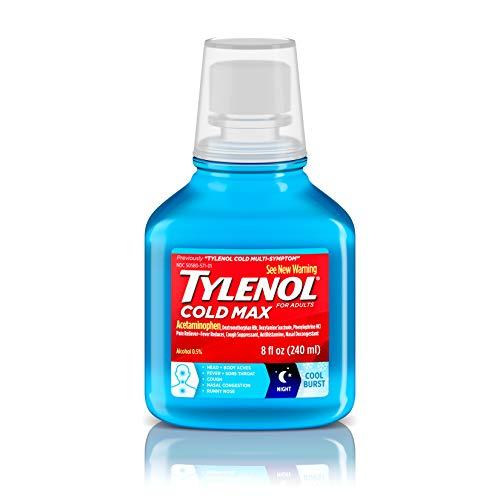 - Tylenol Cold Max Night Cool Burst Liquid, 8 Fl. Oz