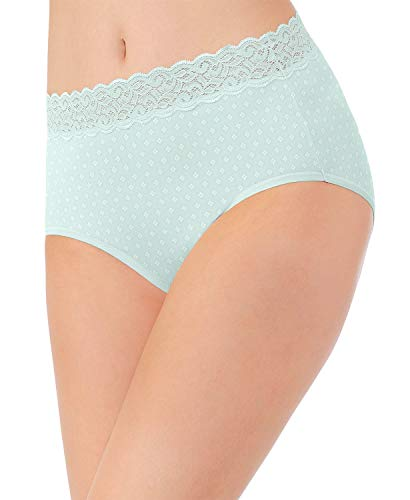 Vanity Fair Women's Flattering Lace Cotton Stretch Brief Panty 13396, Hush Diamond Print, 2X-Large/9 (Panties Print Lace)