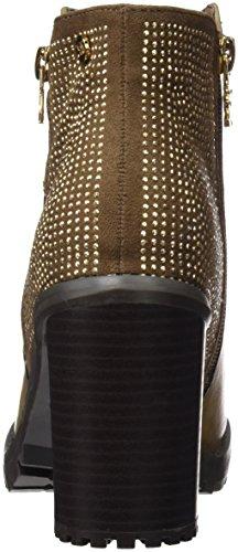 XTI Botin Sra. C. Combinado Taupe, Zapatos de Tacón con Punta Cerrada para Mujer Beige (Taupe)