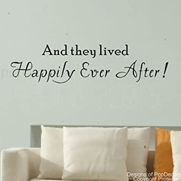 Amazoncom Popdecors And They Lived Happily Ever After Words