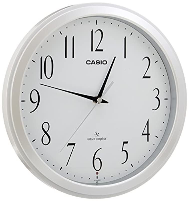 CASIO(카시오) 벽시계 전파 아날로그 웨이브《세푸타》 화이트 IQ-1060J-7JF