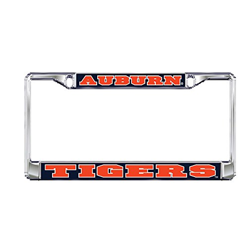 Auburn University Tigers Silver Metal License Plate Frame (Auburn Tigers Chrome License Plate)