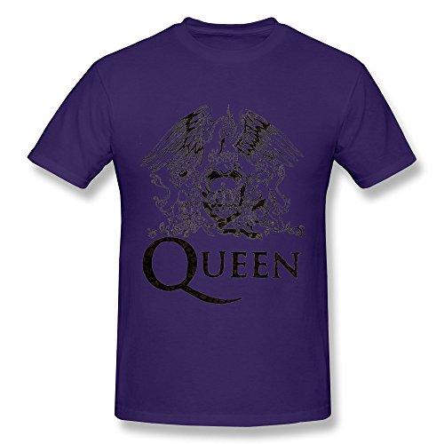 KAITIAN Queen Mercury Bohemian Rhapsody Men's Cotton T-shirt Purple Size L