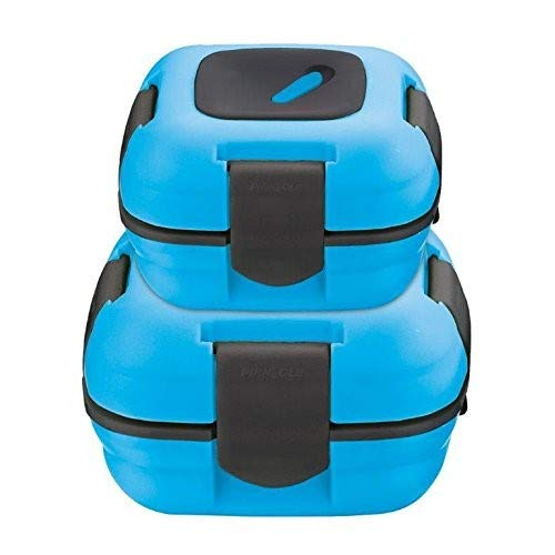Lunch Box ~ Pinnacle Insulated Leak Proof Lunch Box for Adults and Kids - Thermal Lunch Container With NEW Heat Release Valve ~Set of 2/2 Sizes~ Blue
