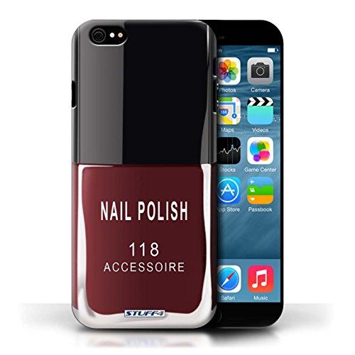 Stuff4 Hülle / Hülle für Apple iPhone 6/6S / Rot Muster / Nagellack/Make-Up Kollektion