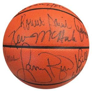 1986 Boston Celtics Autographed Official NBA Leather Basketball (UDA) - Autographed Basketballs ()