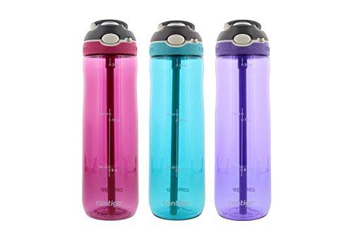Contigo Autospout Ashland Water Bottle, 24oz - Scuba, Grapevine, Berry (3 Pack)
