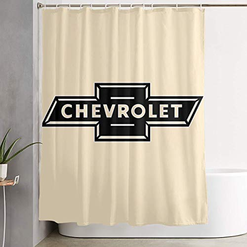 XIA WUEY Home Decor Shower Curtain Chevrolet Silverado Logo Bathroom Waterproof Shower Curtain Quality Polyester Bathroom Shower Curtain Set with Hooks 60