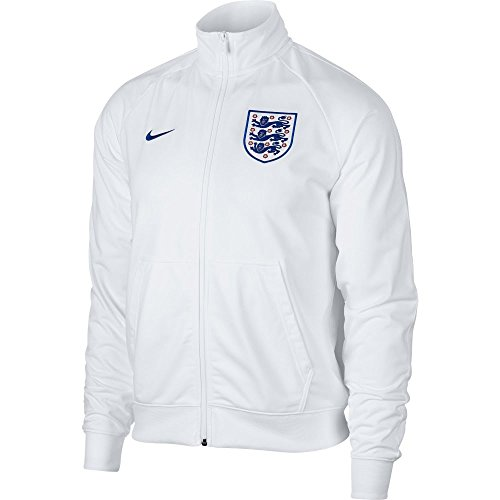 England Soccer Jacket (NIKE 2018-2019 England Sportswear Mens Jacket (White))