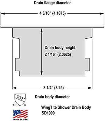 WingTite Shower Drain Replacement Installs Entirely from the Top Chrome