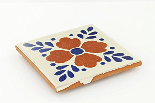Box of 45 - 4¼ x 4¼ Hortensia - Talavera Mexican Ceramic Tiles