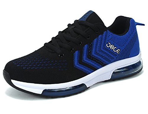 Shoes 4 Blue Quality D up High Sports Lightweight Vamp Running Lace M Shock Black Flyknit US Anti Mens 6HRxEf