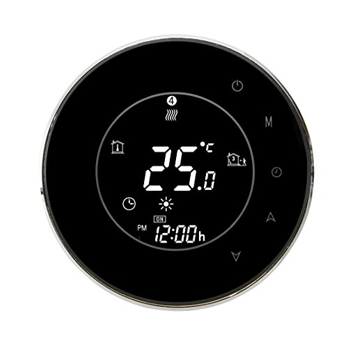 BECA 95~240VAC 16A Smart WIFI LCD Touch Screen Wireless Programmable Underfloor Electric Heating Thermostat(BHT-6000GBLW Black)