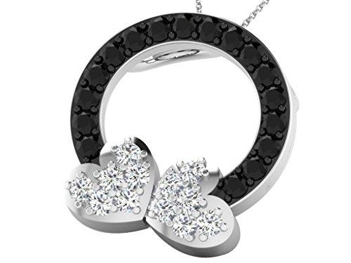 Libertini Pendentif argent 925 serti de Diamant