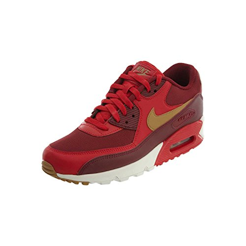 41 EU Leather Mens Nike Max Red Trainers Air Gold 90 Essential CzwqxBwAv