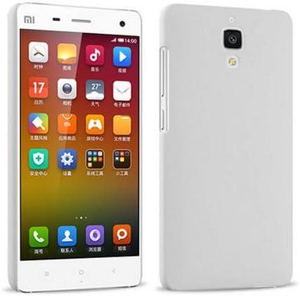 Prevoa ® 丨Original Colorful Hard Plastic Cover Funda para Xiaomi 4 M4 Mi4 Smartphone - Blanco
