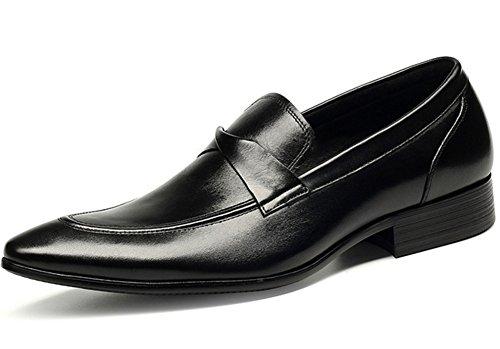 hommes grandes cuir occasionnels Chaussures 37 black chaussures 44 simples en cuir pointures xie hommes chaussures en affaires fvqnHw