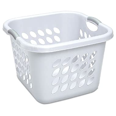 Sterilite 12178006 1.5 Bushel/53 Liter Ultra Square Laundry Basket, White, 6-Pack
