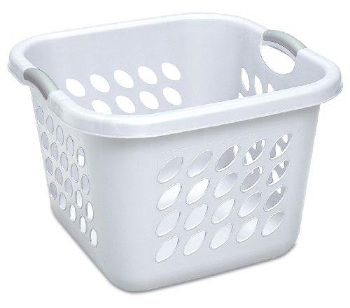 Sterilite 12178006 1.5 Bushel/53 Liter Ultra Square Laundry Basket, White, 6-Pack