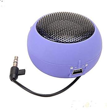 Columna Altavoz Caja de Sonido con Cable Altavoz Estéreo Bajo Hi-fi Audio Música Púrpura: Amazon.es: Electrónica