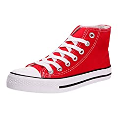 4a26acb6a4 Women s Fashion Canvas Sneakers Casual Shoes High Top Lace up .