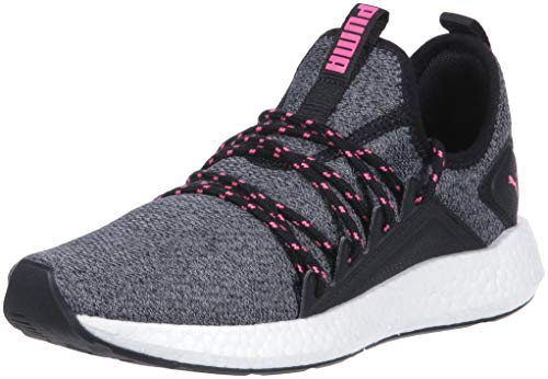 PUMA Women's Nrgy Neko Knit Sneaker, puma black-knockout pink, 9 M ()
