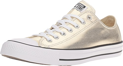 Converse Unisex Chuck Taylor All Star Ox Low Top Classic LIGHT GOLD WHITE BLACK Sneakers - 11 D(M) US