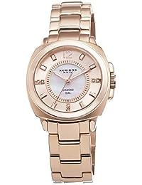 Akribos XXIV Women's AK668RG Lady Diamond Mother-of-Pearl Swiss Quartz Rose-Tone Stainless Steel Bracelet Watch