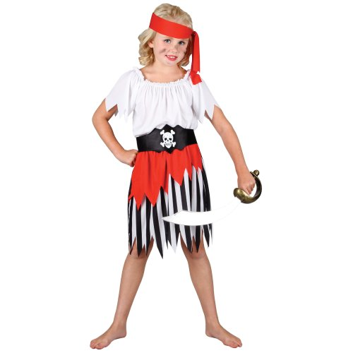 Wicked Big Girls' High Seas Pirate Costume L 8 - 10 Years Multicoloured