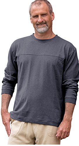 Horizon Long-Sleeve Hemp/Organic Cotton Tee Pullover (Slate, XL)