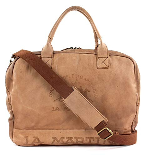 La Martina Chocolate Esteban Briefcase Brown rr87Rpw
