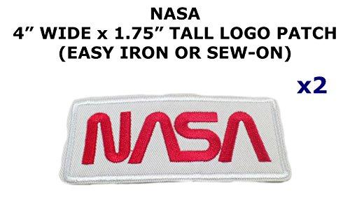 2 PCS NASA Logo Space Theme DIY Iron / Sew-on Decorative Applique - Captain Diy Costume America