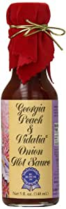 Pepper's Georgia Peach and Vidalia Onion Hot Sauce with Red Velvet Top, 5 Ounce