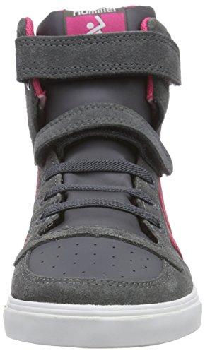 Hummel HUMMEL SL STADIL ELASTIC JR HI - zapatillas deportivas altas de cuero Niños^Niñas gris - Grau (Castle Rock / Honeysuckle 2798)