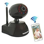ZEBORA Baby Monitor, Super HD Internet WiFi Wireless Network IP Security Surveillance Video Camera System, Pet and Nanny Monitor with Pan and Tilt, Two Way Audio & Night Vision