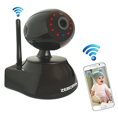 Zebora Super HD 960P Internet WiFi Wireless Network IP Security Surveillance Video Camera System, Baby and Pet Monitor with Pan and Tilt, Two Way Audio & Night Vision (black) (Network Wireless Wep)