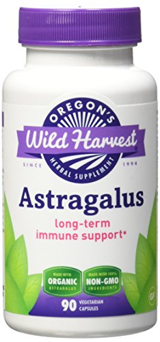 Oregon's Wild Harvest Astragalus Organic Supplement, 90 Count, 1125mg organic astragalus root