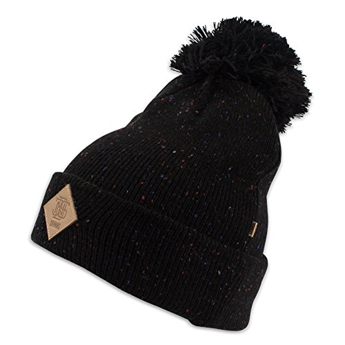 Bubble Knit black Spotted Removable Beanie DJINNS wI5FqfCn