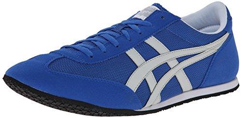 Onitsuka Tiger Machu Racer Classic Running Shoe, Strong Blue/Soft Grey, 9 M US