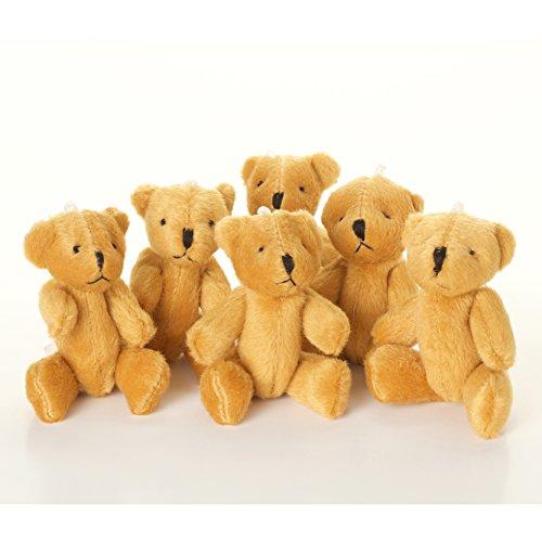 New 10 X Cute and Cuddly Little Brown Teddy Bear - Gift Present Birthday Xmas