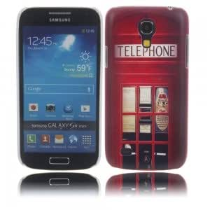 Unique Colorful Plastic Protective Case with Telephone Booth Pattern for Samsung S4 Mini i9190