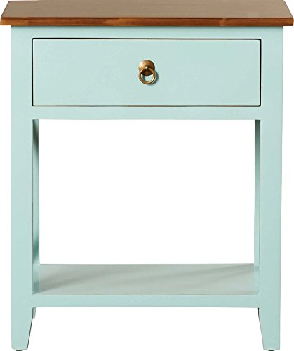 Different Colorful and Adorable One Drawer Nightstands Choose Your Favourite Color Made of Wood and X Crossed Sides by eCom Fortune