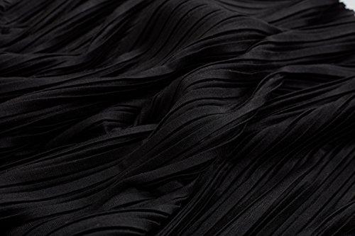 Pleated 00007 black Schwarz Classics Gonna Mini Jersey Urban Donna 8TqHO