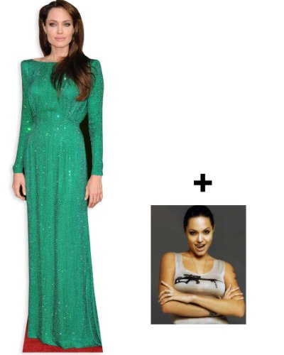 *FAN PACK* - Angelina Jolie LIFESIZE CARDBOARD CUTOUT (STANDEE / STANDUP) - INCLUDES 8X10 (25X20CM) STAR PHOTO - FAN PACK - Jolie Angelina Style
