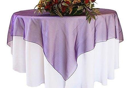 Organza Table Overlay Linen Table Cloth 80u0026quot; X 80u0026quot; ...