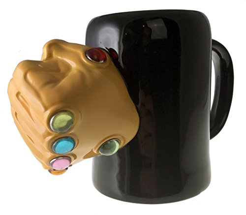 Marvel Thanos Infinity Gauntlet Rings Oversize 3 D Ceramic Mug  24 Ounces