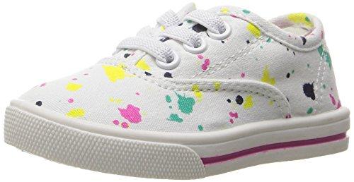 Splatter Shoes (carter's Piper Girl's Casual Sneaker, White/Print, 12 M US Little)