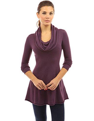 cowl neck belt sweater dress - 7
